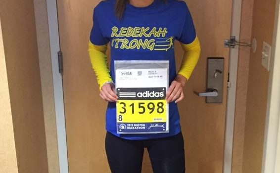 Congratulations to bombing survivor Rebekah Gregory